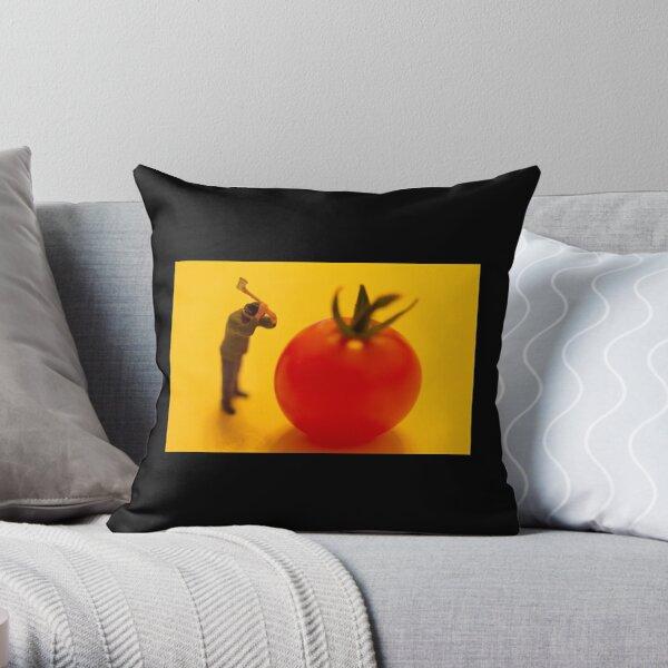 Mini-Creatives: Tomato Series 1 - Hammer Man  Throw Pillow