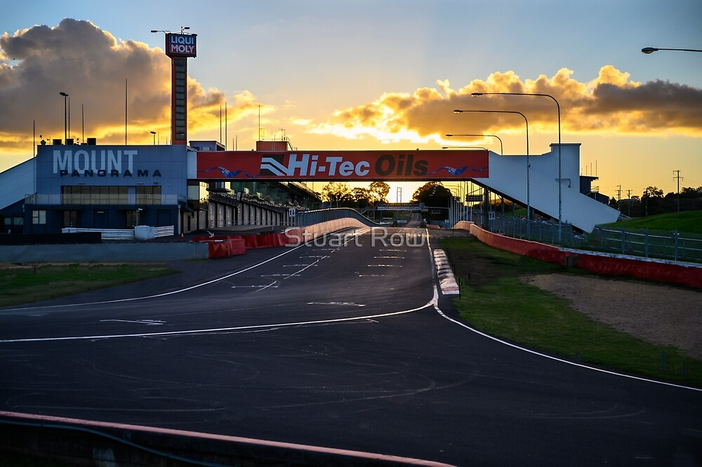 Pit Straight at Mount Panorama by Stuart Row