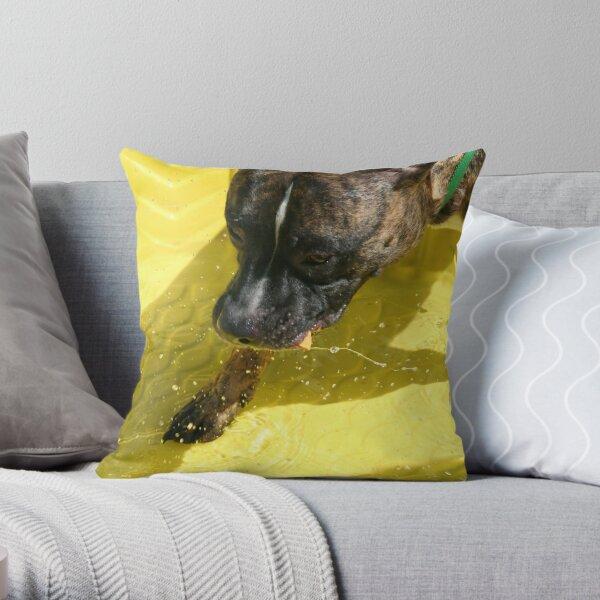 Fishin for snacks Throw Pillow