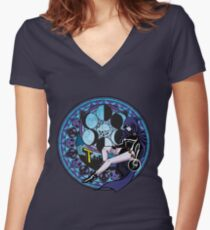 Raven's Birth by Sleep Women's Fitted V-Neck T-Shirt