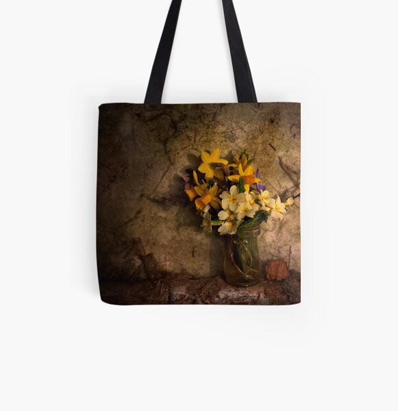 Spring Flowers All Over Print Tote Bag