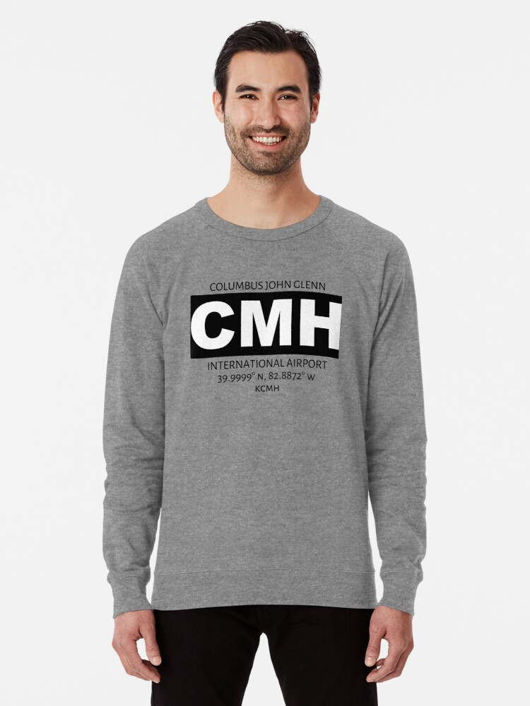 Alternate view of Columbus John Glenn International Airport CMH Lightweight Sweatshirt