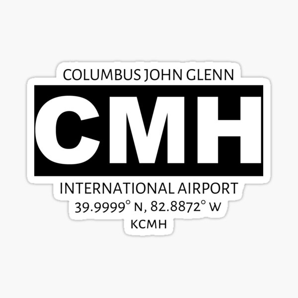 Columbus John Glenn International Airport CMH Sticker