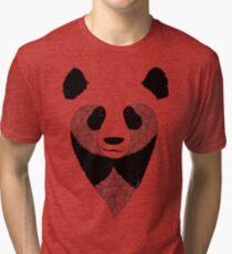 Panda black and white Tri-blend T-Shirt