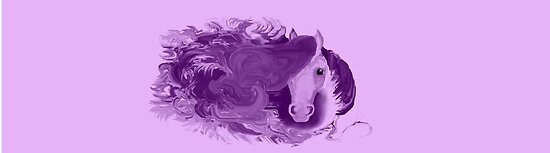 Royal: Purple Horse Print/Poster by TheLuckyKat