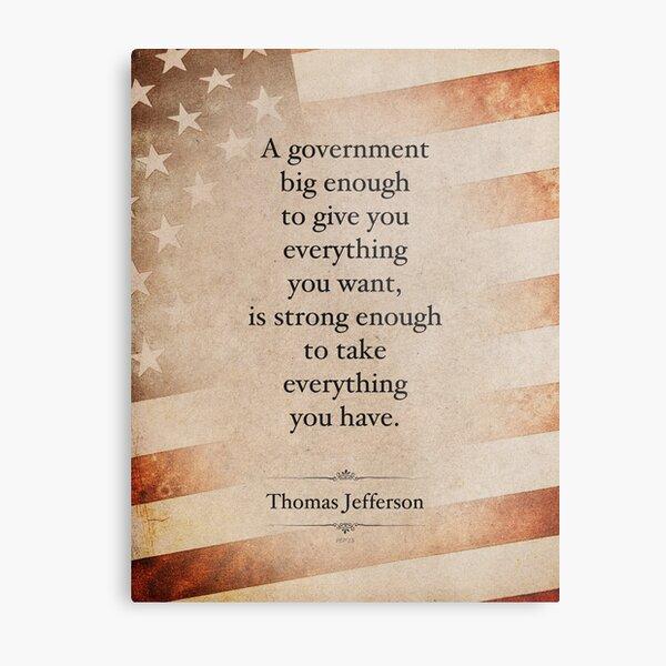 Thomas Jefferson Quote Metal Print