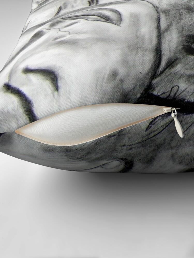 Alternate view of Mask - Drawn Throw Pillow