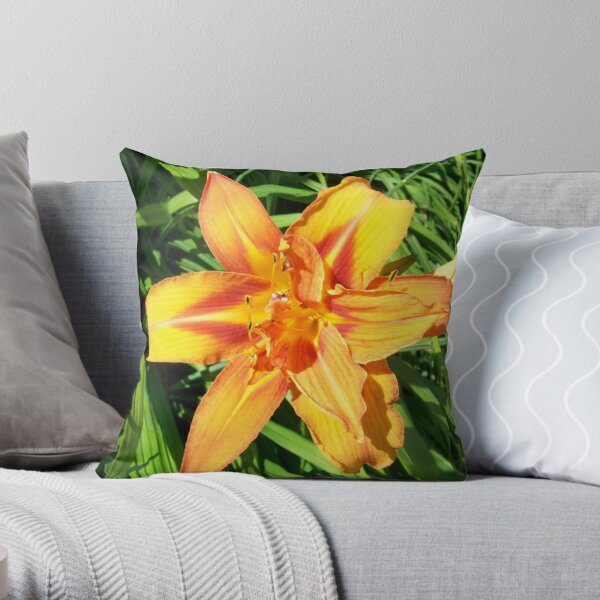 Backyard Flower 1 Throw Pillow