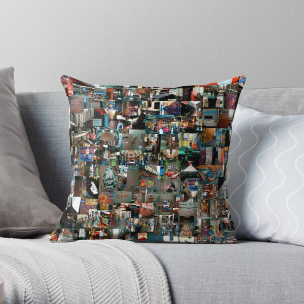 Melbourne Laneways Throw Pillow