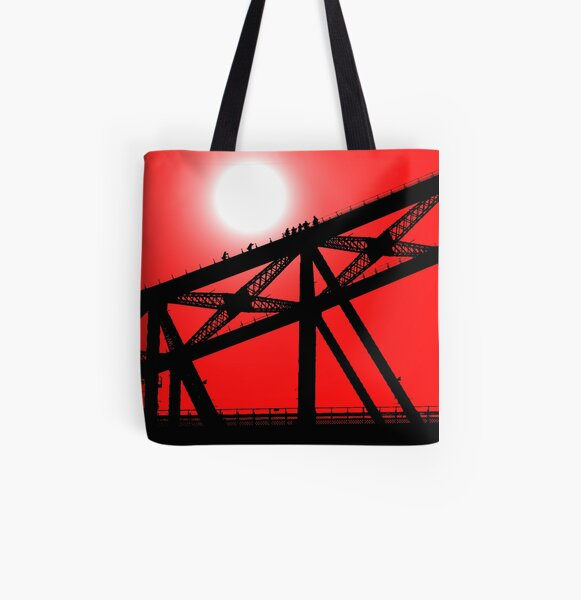 Climbing the Sydney Harbour Bridge All Over Print Tote Bag