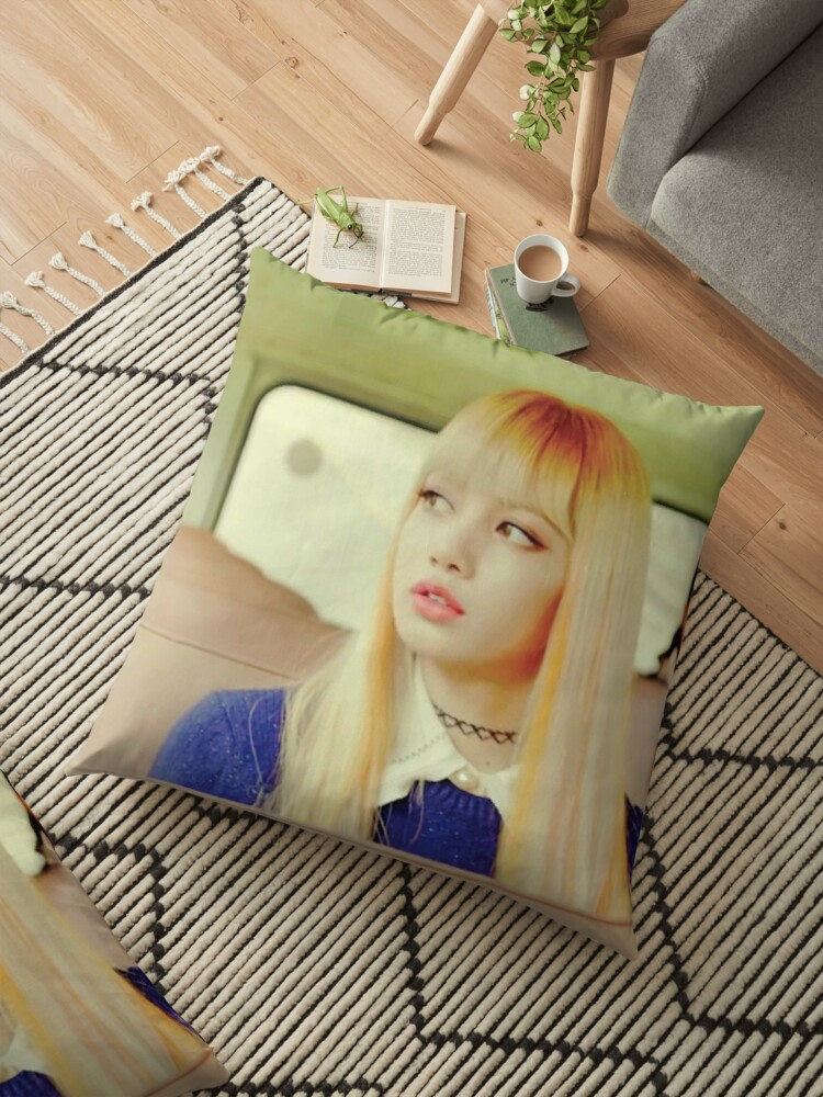 Lisa Blackpink Playing With Fire Floor Pillow By Nurfzr