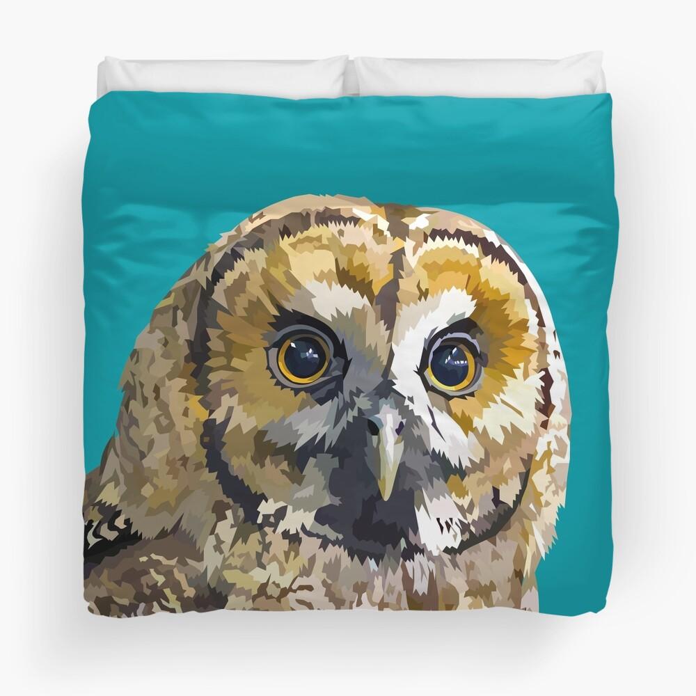 Sparkly eyed Owl  Duvet Cover