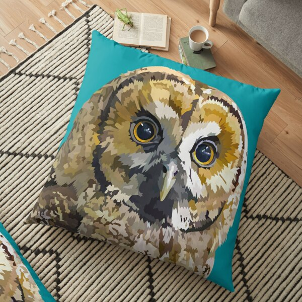 Sparkly eyed Owl  Floor Pillow