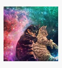 Tortilla and Feivel - Snuggles in Space Photographic Print