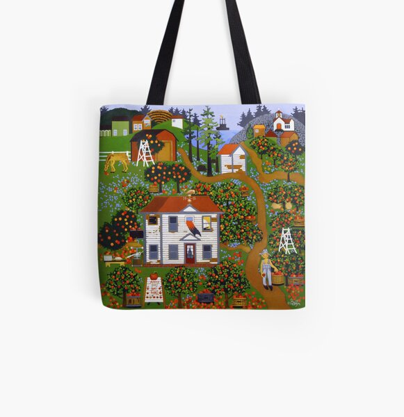 Apple Pies Here Today All Over Print Tote Bag