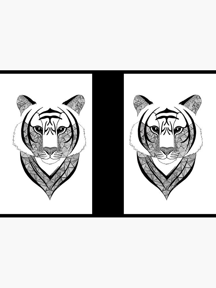 Tigre blanco y negro de artetbe