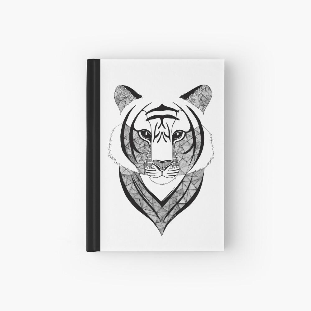 Tigre blanco y negro Cuaderno de tapa dura