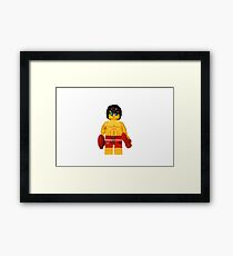 LEGO Lifeguard Framed Print