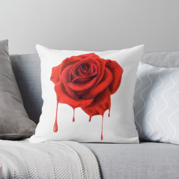 Painting the Roses Red Throw Pillow