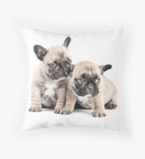 Frenchie Puppy Pals Throw Pillow