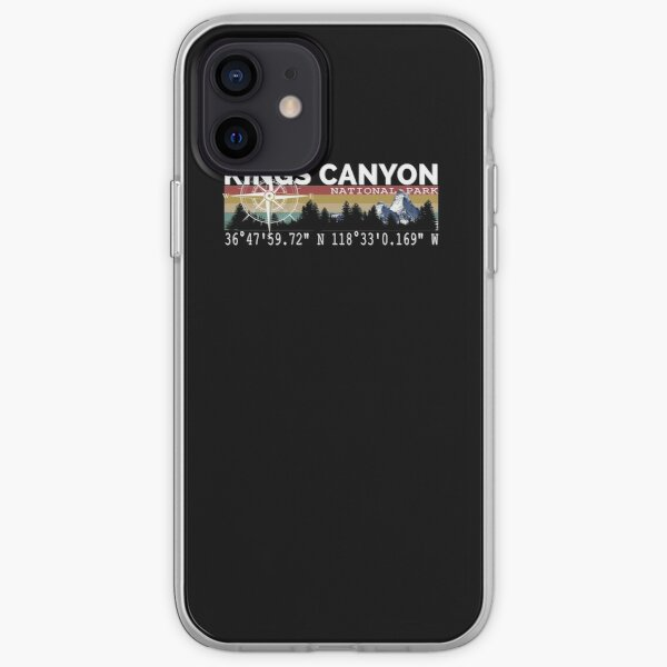 Kings Canyon National Park With Awesome GPS Location Design iPhone Soft Case
