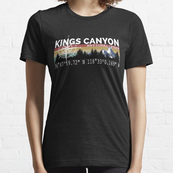 Kings Canyon National Park With Awesome GPS Location Design Essential T-Shirt