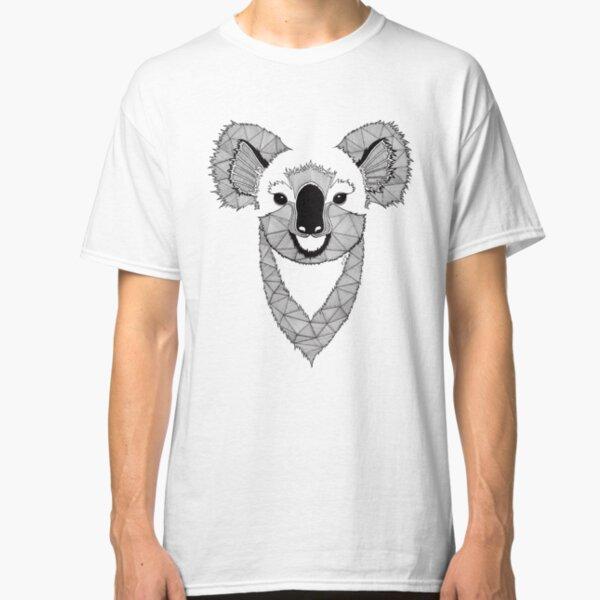 Koala noir et blanc T-shirt classique