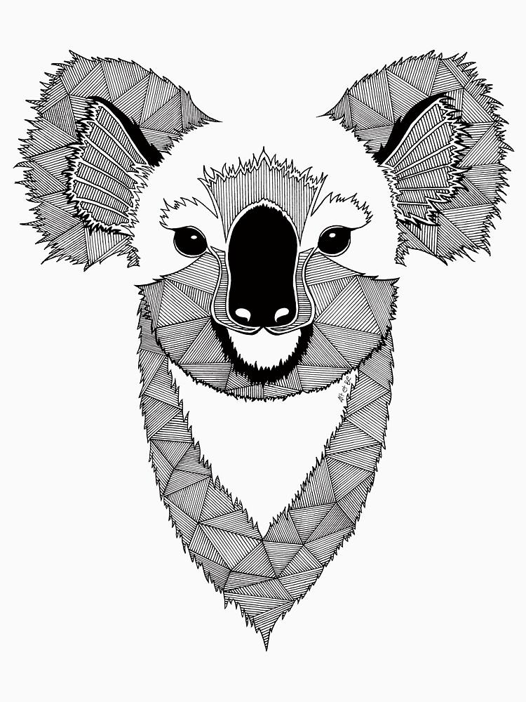 Koala en blanco y negro de artetbe