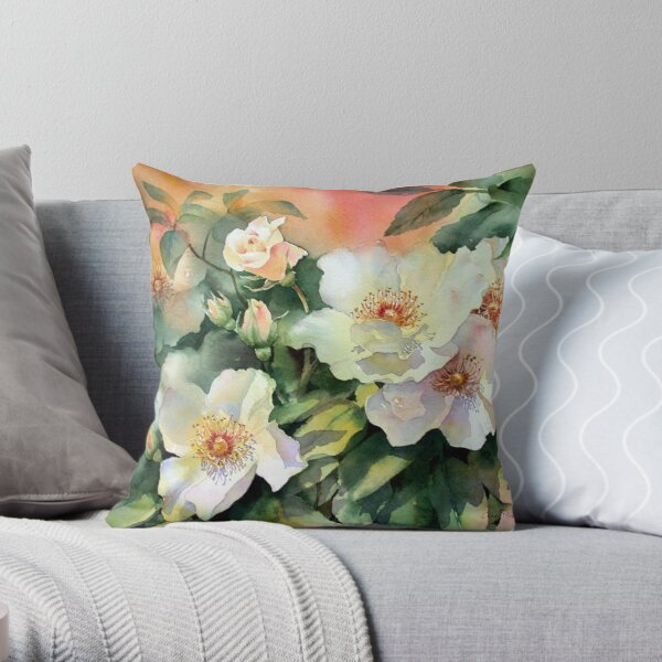 Val's Roses Throw Pillow
