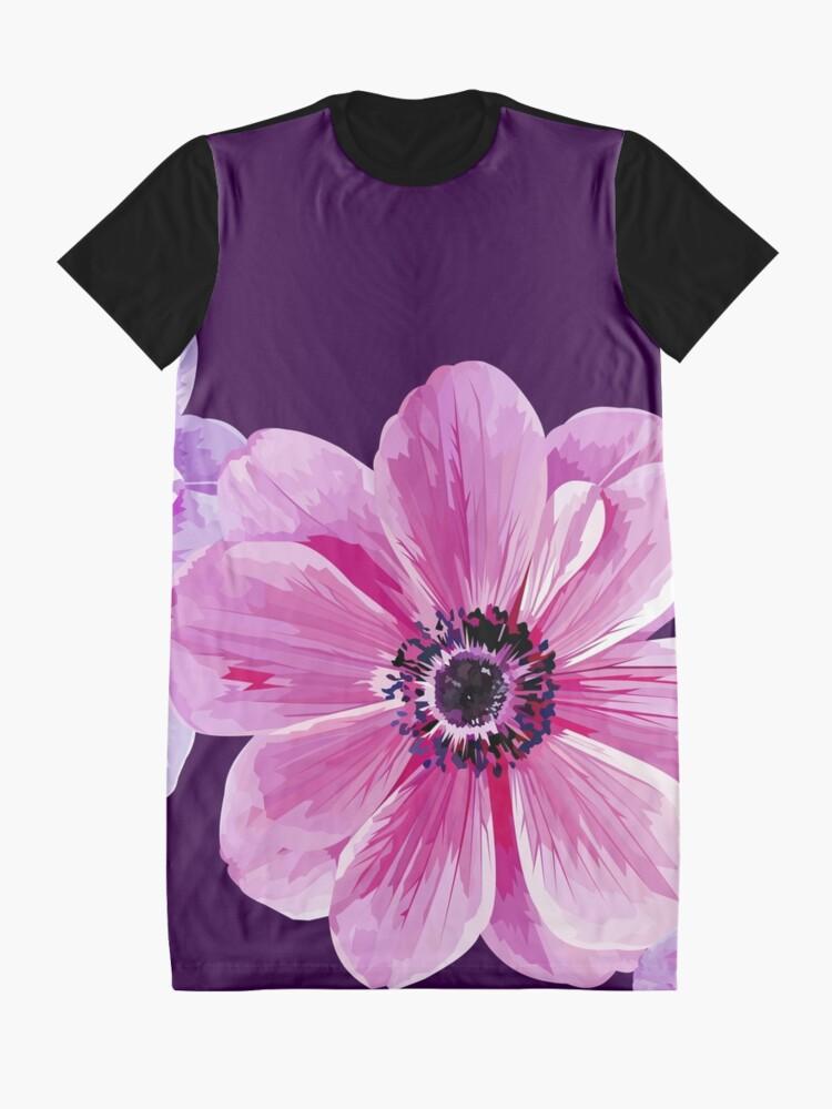 Alternate view of Pink Flower Power Graphic T-Shirt Dress