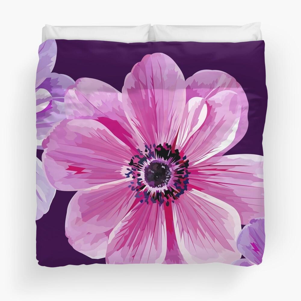 Pink Flower Power Duvet Cover