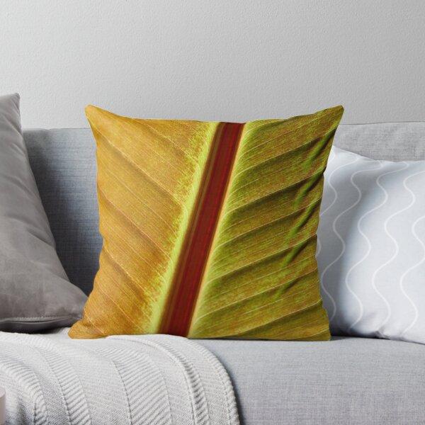 bronze leaf Throw Pillow