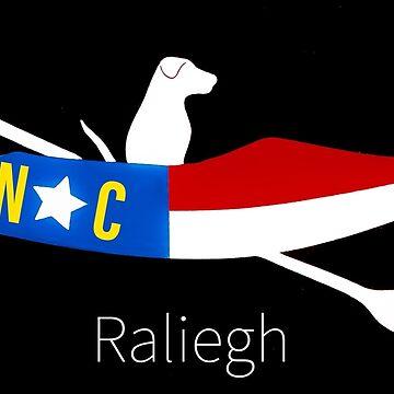 Raliegh NC Kayak Dog by barryknauff