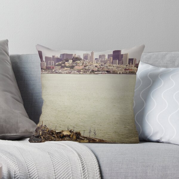 The 5-Star View from Alcatraz. Throw Pillow