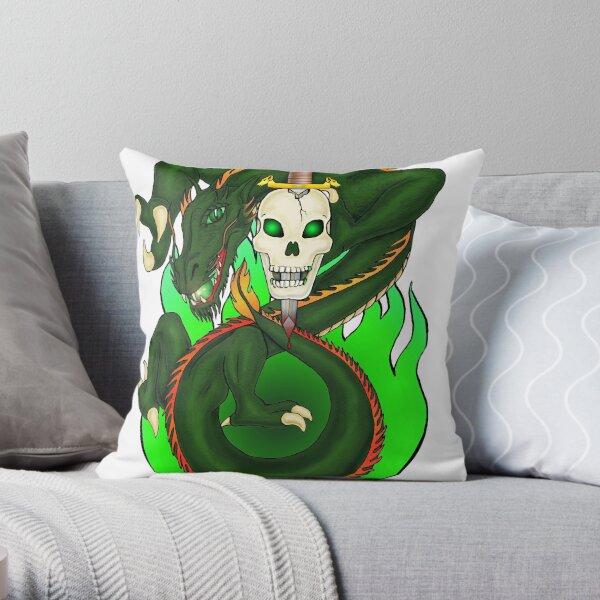 Dragon Sword Throw Pillow