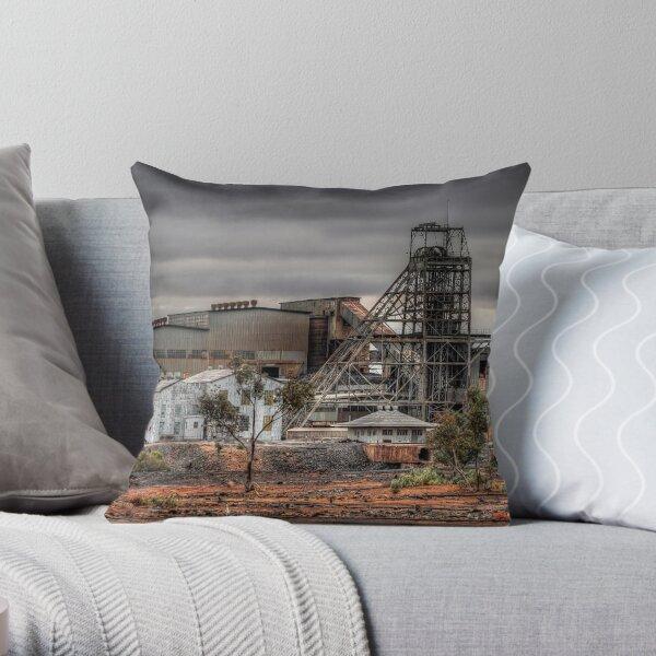Mining Landscape Throw Pillow