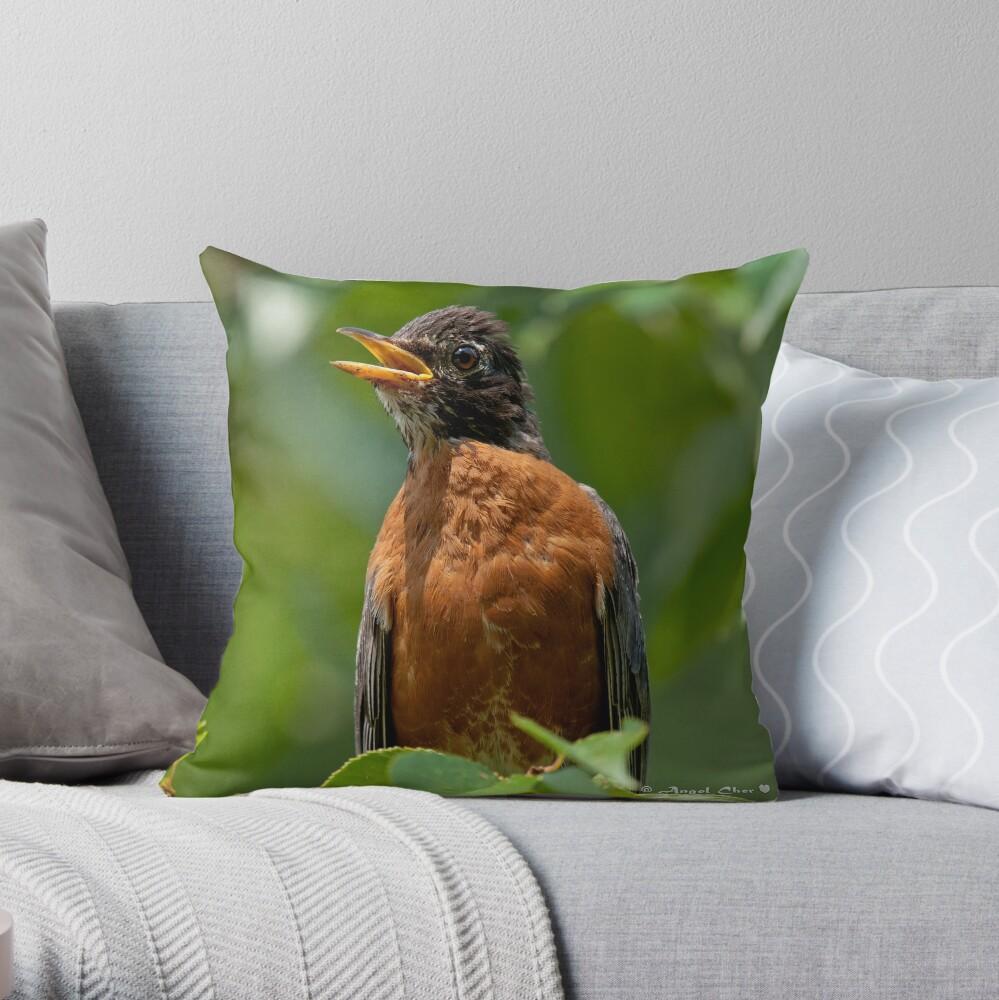 Robin Mama Throw Pillow