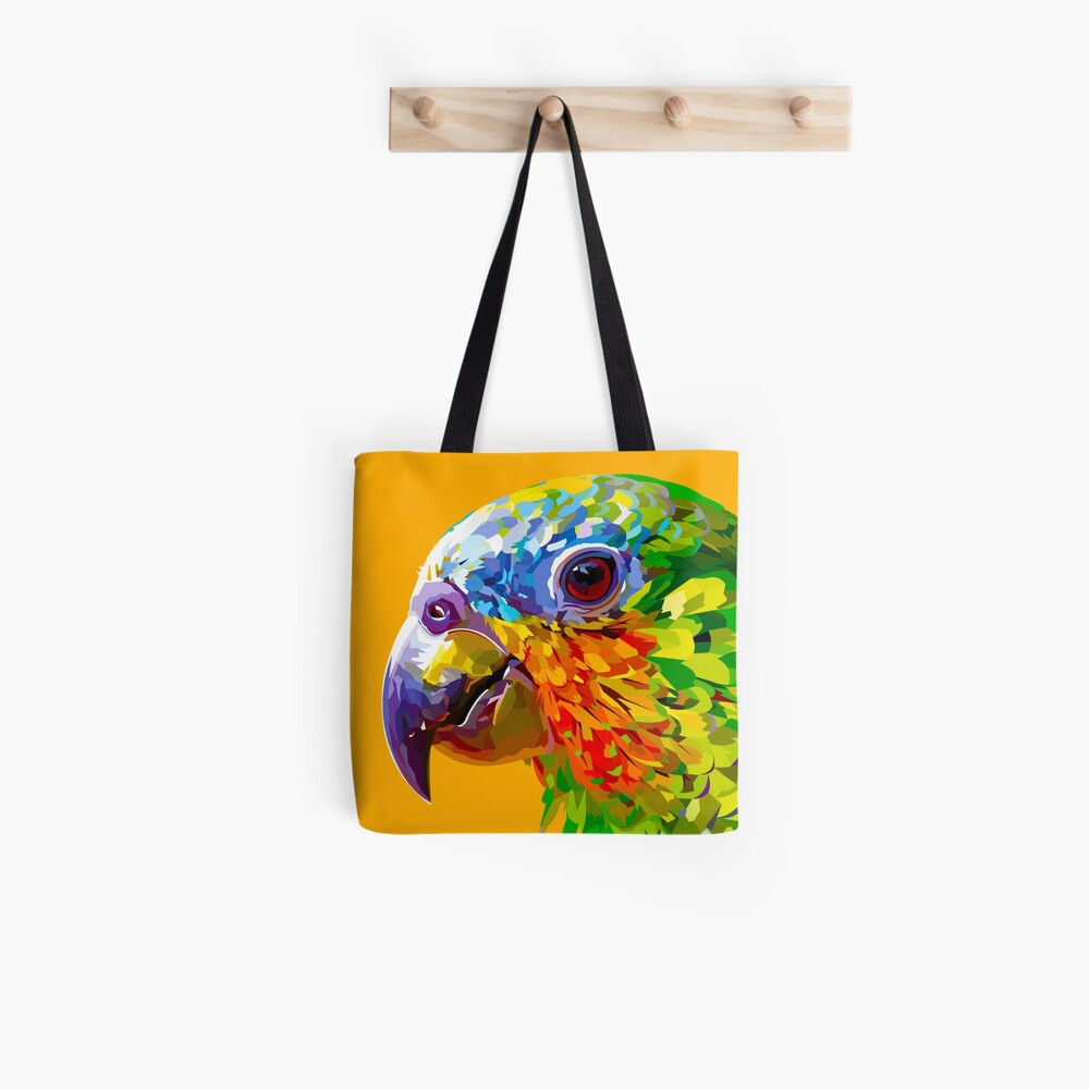 Rainbow colored parrot Tote Bag