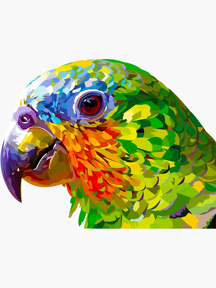 Rainbow colored parrot by Elviranl