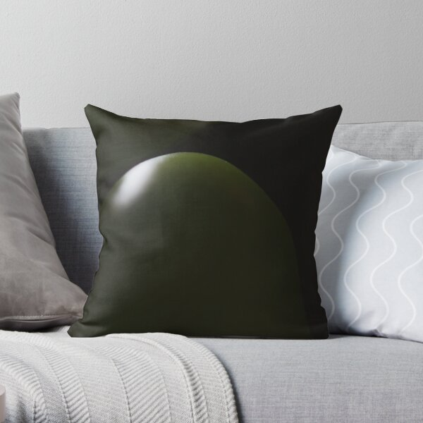 dark green light Throw Pillow