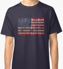"""Old Glory"" on wood Classic T-Shirt"
