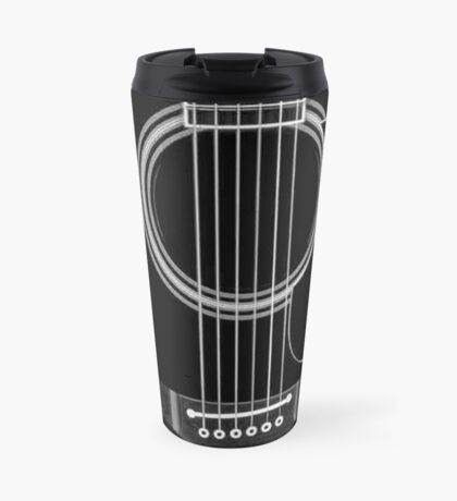 black acoustic Travel Mug