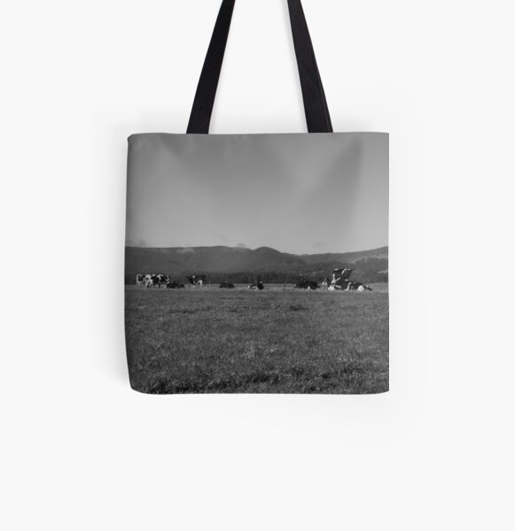 Cowscape All Over Print Tote Bag