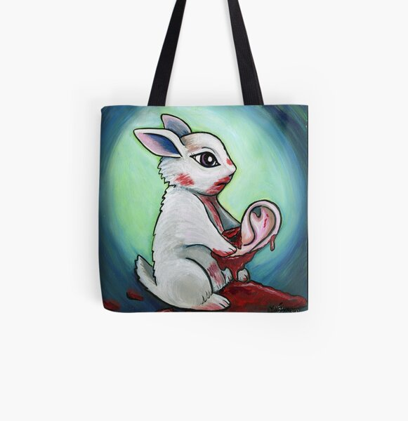 Cannibunny #2 All Over Print Tote Bag