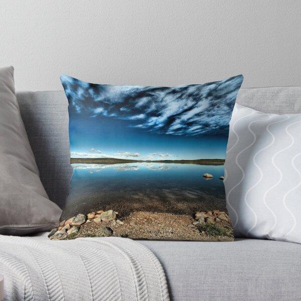 Hardangervidda Blues Throw Pillow