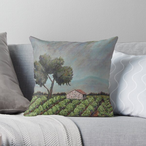 Chateauneuf Vineyard  Throw Pillow