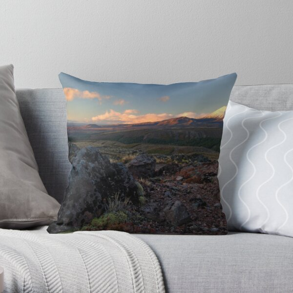 Central Plateau Sunset Throw Pillow