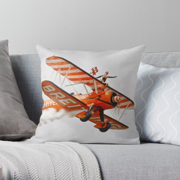 Breitling Wingwalkers Throw Pillow
