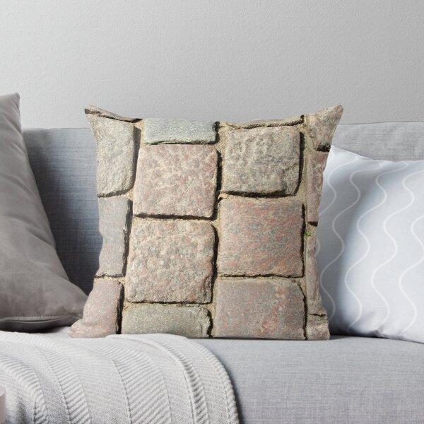 Cobble Stone Road Throw Pillow