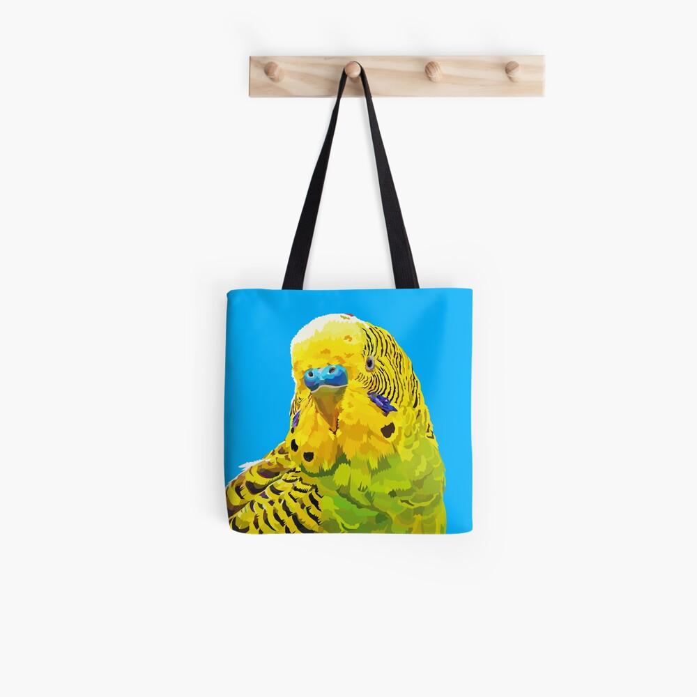Yellow and Green Budgie Parakeet Tote Bag